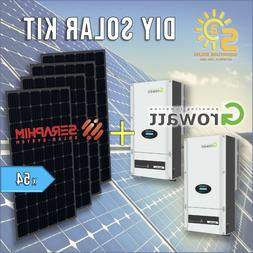 16.47kW GRID-TIE Solar Kit 305W 60-Cell 54 Black Panel + 15.