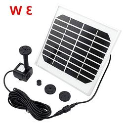 9V/3W Solar Fountain Water Pump Kit Solar Power Panel Upgrad
