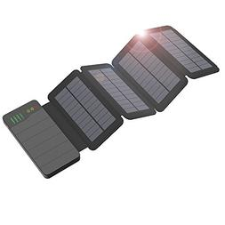 ALLPOWERS 10000mAh Solar Charger with Light Sensored Technol