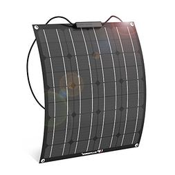 ALLPOWERS 50W 18V 12V Flexible Solar Panel Charger Semi Bend