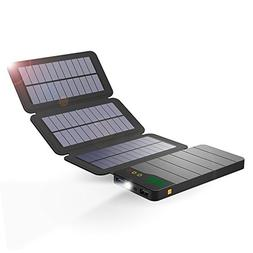 ALLPOWERS Solar Power Bank, 10000mAh Solar Charger with Ligh