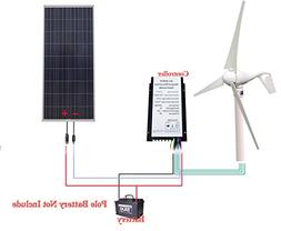 ECO LLC 550W Kit 400W Wind Turbine Generator + 150W Poly Sol