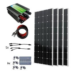 ECO-WORTHY 600W Monocrystalline 12v 24v Off Grid Battery Cha