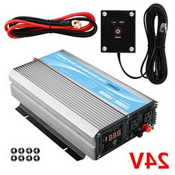 GIANDEL 2000W Power Inverter 24V DC to 120V AC with 20A Sola