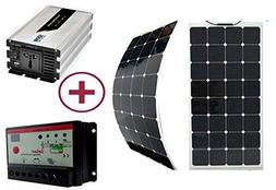 GOWE 100W solar kit system with flexible solar panel 100W 10