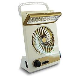 GUORZOM 3 In 1 Desktop Cooling Fan Multifunctional Solar Fan