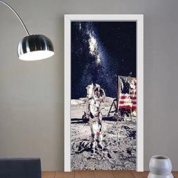 Gzhihine custom made 3d door stickers Outer Space Decor Amer