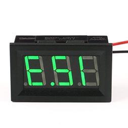 Honbay DC 3-30V Digital Voltmeter Voltage Tester Gauge Green