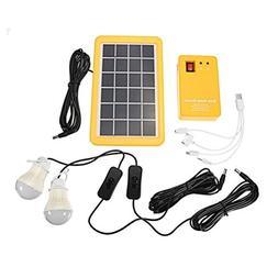 LEDMOMO Solar Lighting System Outdoor Portable Solar Home Sy