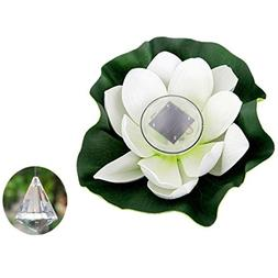 MOONHOUSE- Solar Power Lotus Light Waterproof leaf Shape ,Fl