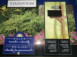 Moonrays 91919 15.2-Inch 2-Sided Solar Address Sign, Black