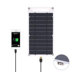 Lixada 7.8W Solar Panel Charger USB Port Portable Ultra Thin