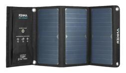 New) Anker 21W 2-Port USB Solar Charger PowerPort Solar for
