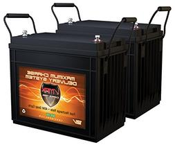 QTY 2 Vmaxtanks Vmaxslr155 AGM Deep Cycle 12v 310ah total at