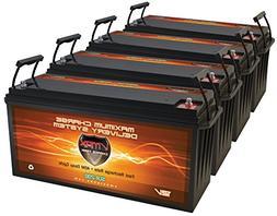 QTY 4 Vmaxtanks Vmax SLR200 12 Volt 200Ah AGM Battery Solar