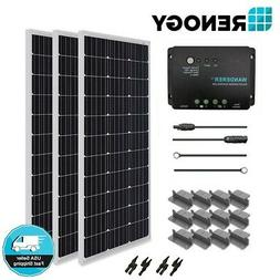 Renogy 300 Watt Mono Solar Panel Starter Kit 300W 12V Off Gr