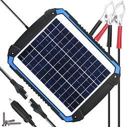 SUNER POWER 12V Solar Car Battery Charger & Maintainer - Por