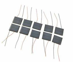 Small Solar Panel 3.0V 70mA with wires - 10 pack