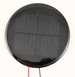 Small Solar Panel Round 6.0V 100mA with wires
