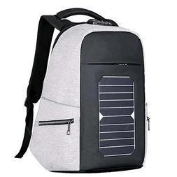 Solar USB Charging Outdoor Travel Backpack, Polyester Men's