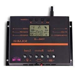 Sun YOBA 60A 12V 24V Solar Charge Controller with USB Port S