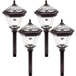 Westinghouse Adonia Stainless Steel Solar Path Lights 4 Pack