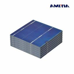 AIYIMA 100Pcs Solar Panel Solars Cell 52x52MM 0.5V 0.46W Col