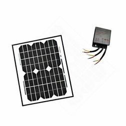 ALEKO Monocrystalline Solar Panel Charging Controller Kit 24
