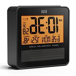 "hito 3.7"" Digital Battery Atomic Bedside Travel Alarm Cloc"