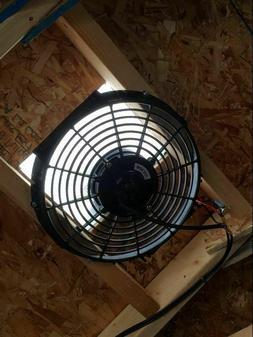 Attic Fan Powered By Solar Panel 80 Watt Motor 12 Inch Roof