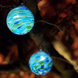 aurora glow handblown glass solar