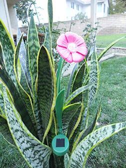 Ballerina Pink Paddle Trumpet Flower Solar Light