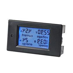 bayite DC 6.5-100V 0-100A LCD Display Digital Current Voltag