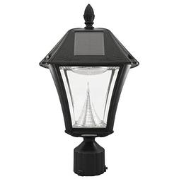 Baytown Ii Outdoor Black Resin Solar Post Light With 10 Brig