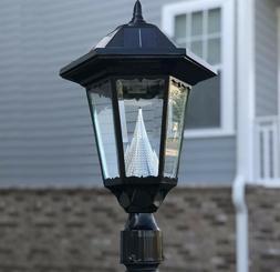 Gama Sonic Baytown II Solar Outdoor LED Light Fixture, Pole/