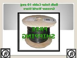 Bulk Solar Cable 100 Feet Bulk U.S. Made Solar Cable 10 AWG