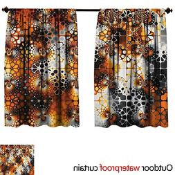 BlountDecor Burnt OrangeAnti-waterVintage Mosaic Pattern wit