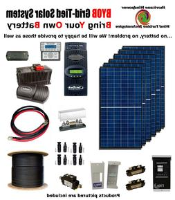 BYOB Grid-Tied 1.7KW 24V Solar Panel Kit Tiny House Cabin PV
