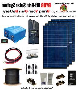 BYOB Off-Grid 1.1KW 12V Solar Panel Kit Tiny House PV System