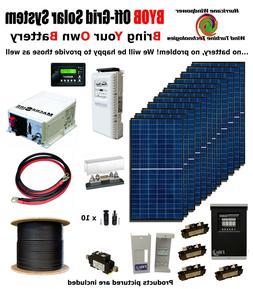 BYOB Off-Grid 3.4KW 48V Solar Panel Kit Tiny House PV System