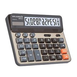 Comix Desktop Calculator, Large Computer Keys, 12 Digits Dis