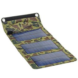 Camouflage Army Style Folding Solar Panel - Weatherproof, US