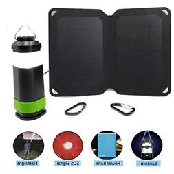 GreeSonic Camping Solar Kit with Solar Panel Phone Charger a