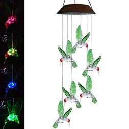 Topspeeder Color-Changing LED Solar Mobile Wind Chime LED Ch