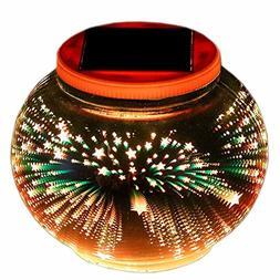 Color Changing Solar Table Lamps, Waterproof Indoor Outdoor