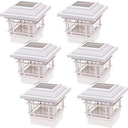 6 Pack GreenLighting Classica 20 Lumen Plastic Solar Post Ca