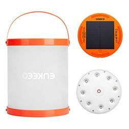 ENKEEO Collapsible Solar Lantern Waterproof IP67 Flashlight