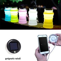 Collapsible Water Bottle Folding Solar Camping Lantern | Poc