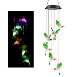 colorful solar wind chimes