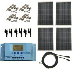 Complete 400 Watt 12V/24V Polycrystalline Off Grid Solar Pan